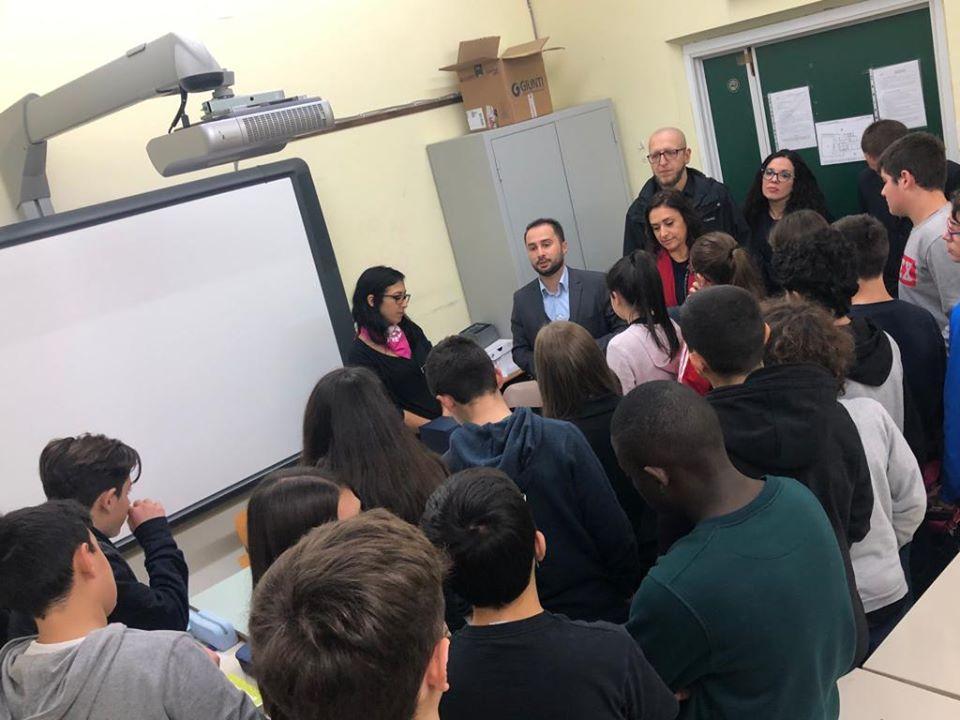 Varone sindaco monterotondo intervento nella scuola Buozzi