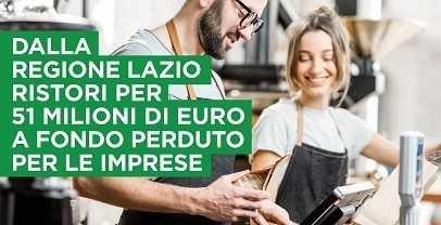 Regione Lazio contributo irap: 51 milioni a fondo perduto per le imprese
